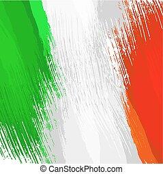 drapeau, grunge, couleurs, fond, italien