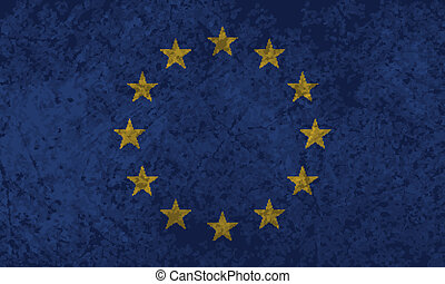 drapeau, grunge, européen