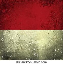 drapeau,  grunge,  Monaco