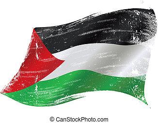 drapeau, grunge, palestinien