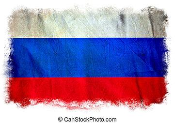 drapeau, grunge, russie