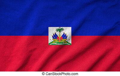 drapeau haïti, a froissé