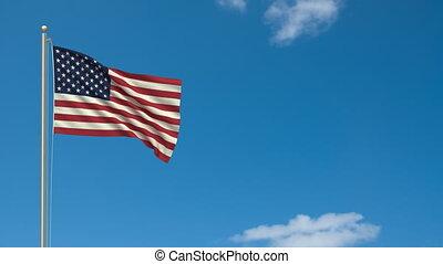 drapeau, hd, usa