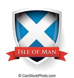drapeau, homme, ecosse, île, signe