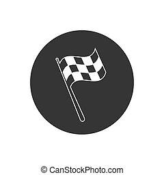 drapeau, icon., sport, illustration., racing., signe., voiture course, commencer, concurrence, noir, rassemblement, chequered, victoire, auto, ligne, moto, flagstaff., finir, checkered, gagnant