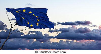 drapeau, illustration, 3d