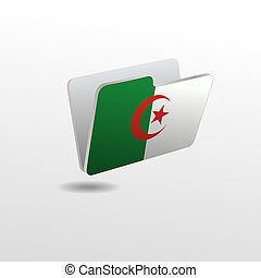 drapeau, image, algérie, dossier