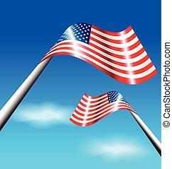 drapeau, indépendance, américain, usa, jour