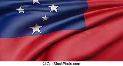 drapeau, indépendant, état, samoa