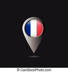 drapeau, indicateur, france