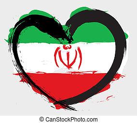 drapeau iran, grunge