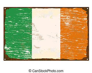drapeau irlandais, émail, signe