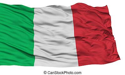 drapeau, italie, isolé