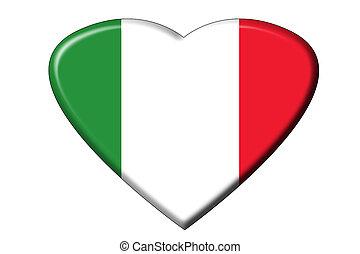 drapeau italien, coeur
