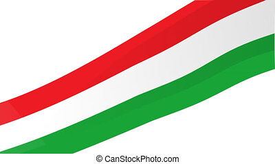 drapeau, italien, fond, mexicain