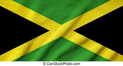 drapeau jamaïque, a froissé