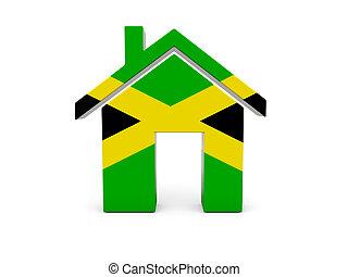 drapeau jamaïque, maison