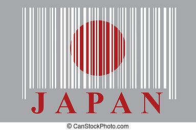 drapeau japon, barcode