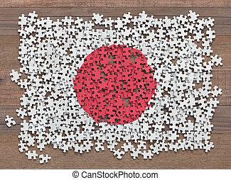 drapeau japon, puzzle