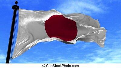 drapeau japon, vent