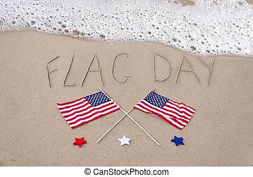 drapeau, jour, fond