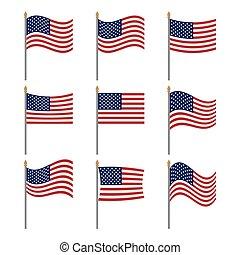 drapeau, juillet, original, ensemble, quatrième, américain