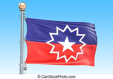 drapeau, juneteenth, rendre, 3d