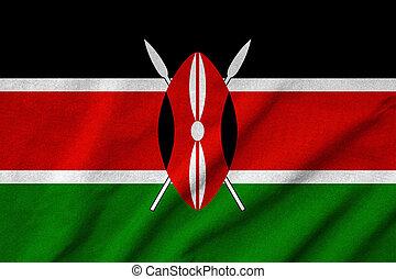 drapeau kenya, a froissé