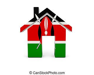 drapeau kenya, maison