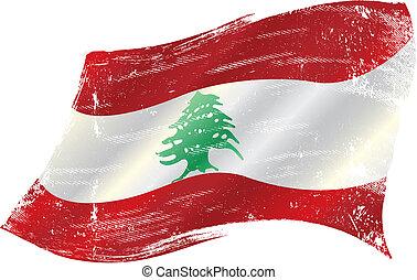 drapeau libanais, grunge