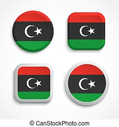 drapeau libye, icônes