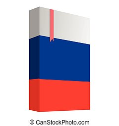 drapeau, livre, russie