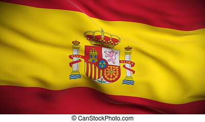 drapeau, looped., espagnol, hd.