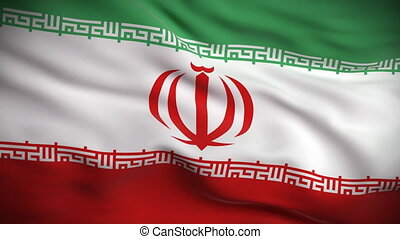 drapeau, looped., hd., iranien