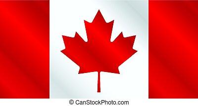 drapeau, lustre, canadien