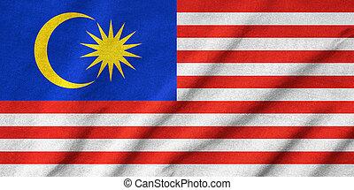 drapeau malaisie, a froissé