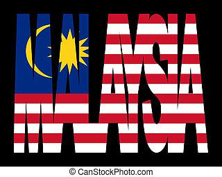 drapeau malaisie, texte