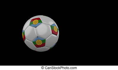 drapeau, mapuche, transparent, football, fond, canal, voler, balle, alpha