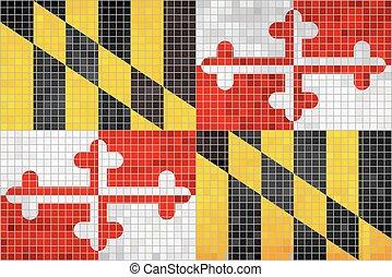 drapeau, maryland, résumé, mosaïque