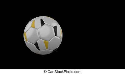 drapeau, matabeleland, transparent, football, fond, canal, voler, balle, alpha