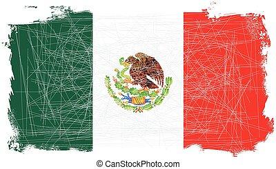 drapeau mexicain, grunge