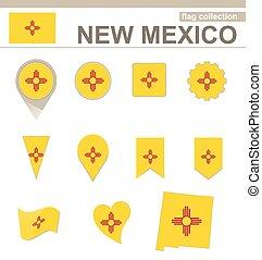 drapeau mexique, collection, nouveau
