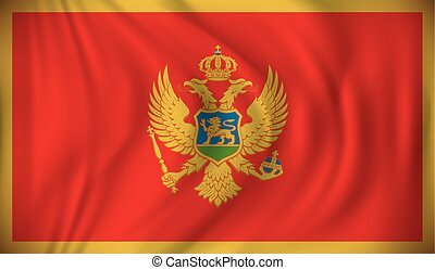 drapeau, montenegro