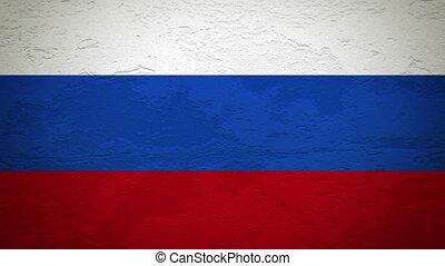 drapeau, mur, russie, explosion