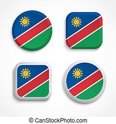 drapeau namibie, icônes