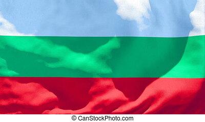 drapeau national, bulgarie, vent, voler