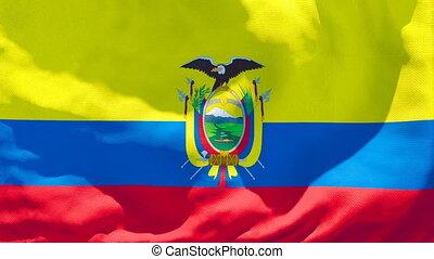 drapeau national, flottements, vent, équateur