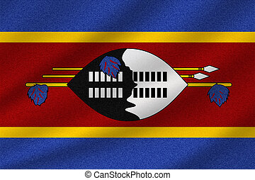 drapeau national, swaziland