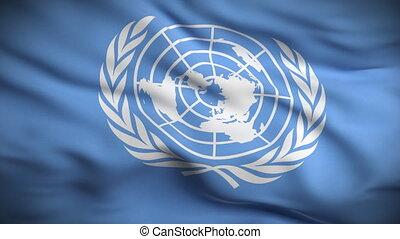 drapeau, nations, uni, looped., hd.