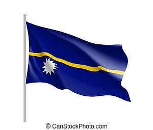 drapeau, nauru, onduler